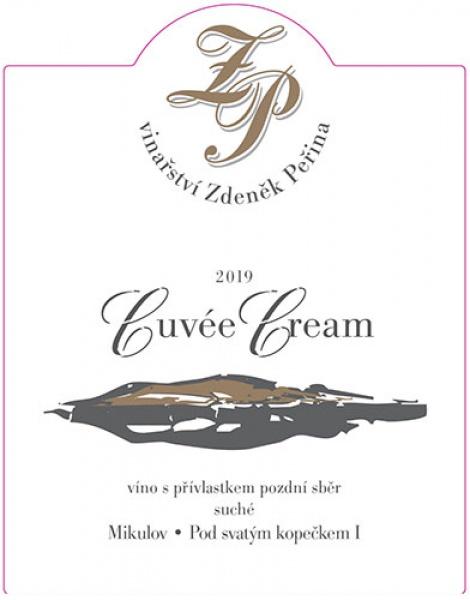 Cuvée Cream 2019, víno s přívl. pozdní sběr