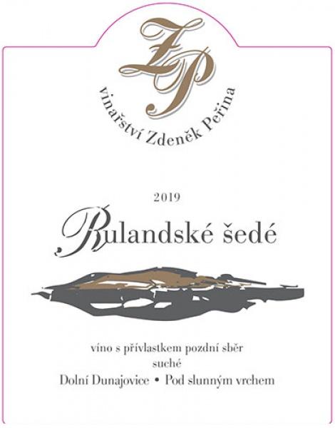 Rulandské šedé 2019, víno s přívl. pozdní sběr
