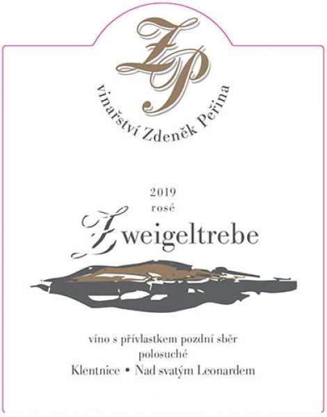 Zweigeltrebe rosé 2019, víno s přívl. pozdní sběr