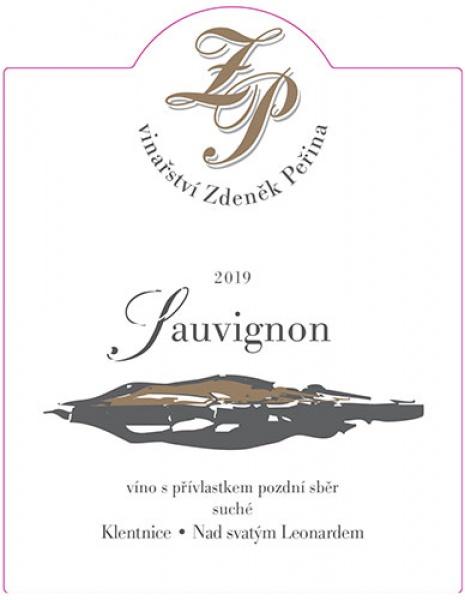 Sauvignon 2019, víno s přívl. pozdní sběr