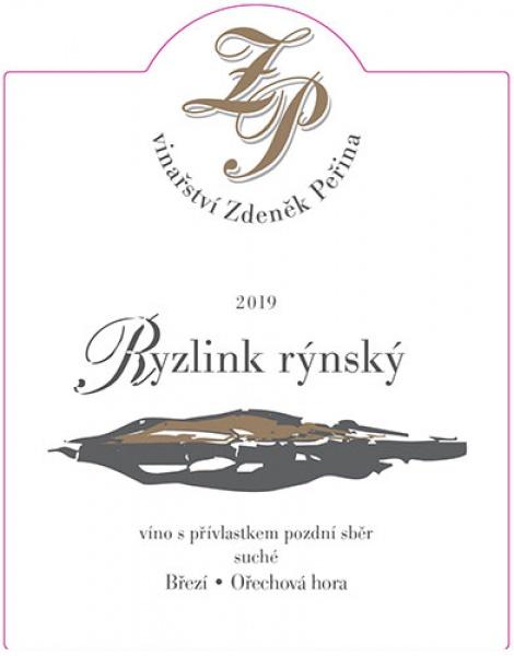 Ryzlink rýnský 2019, víno s přívl. pozdní sběr