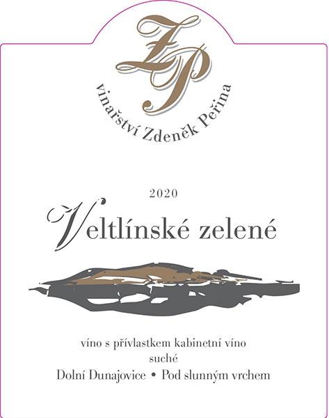 Veltlínské zelené 2020, víno s přívl. kabinetní víno
