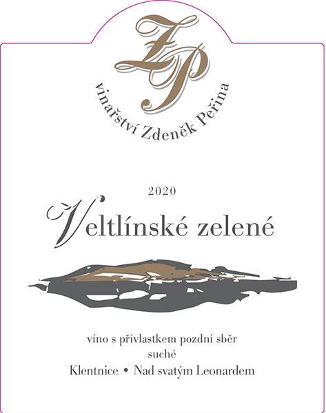 Veltlínské zelené 2020, víno s přívl. pozdní sběr