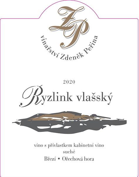 Ryzlink vlašský 2020, víno s přívl. kabinetní víno