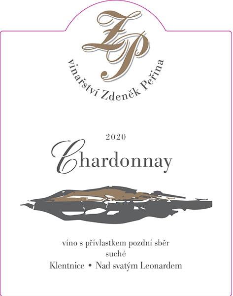 Chardonnay 2020, víno s přívl. pozdní sběr