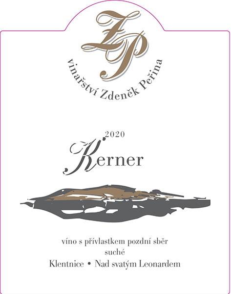 Kerner 2020, víno s přívl. pozdní sběr
