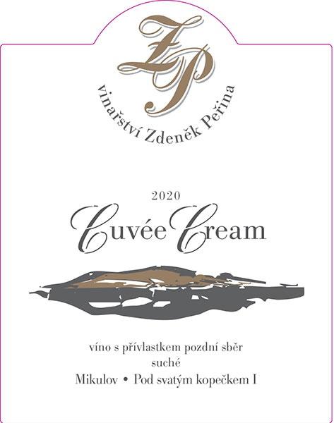 Cuvée Cream 2020, víno s přívl. pozdní sběr