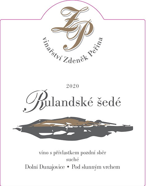 Rulandské šedé 2020, víno s přívl. pozdní sběr