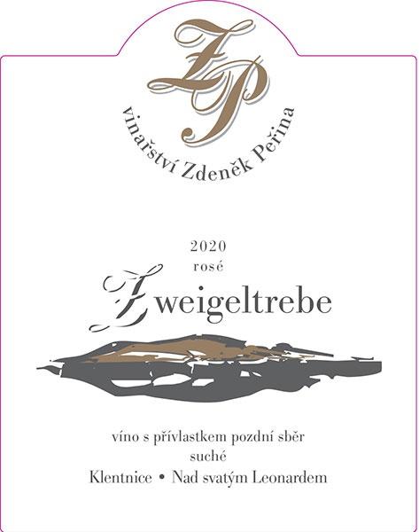 Zweigeltrebe rosé 2020, víno s přívl. pozdní sběr