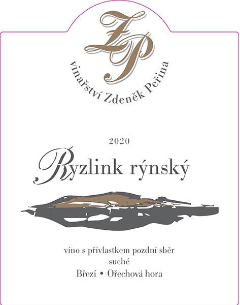 Ryzlink rýnský 2020, víno s přívl. pozdní sběr