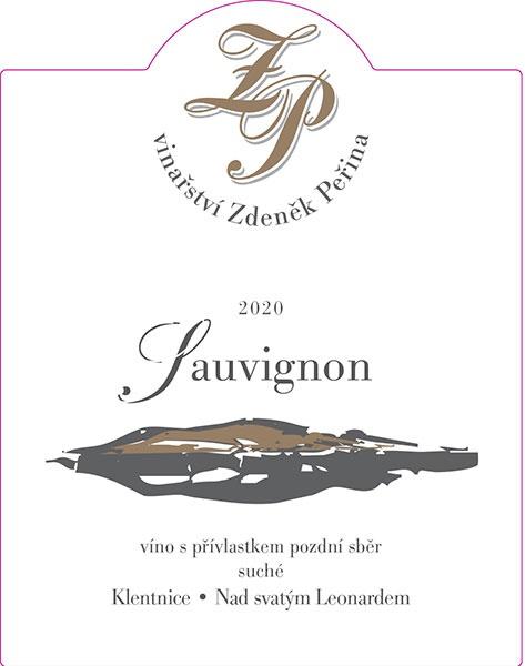 Sauvignon 2020, víno s přívl. pozdní sběr