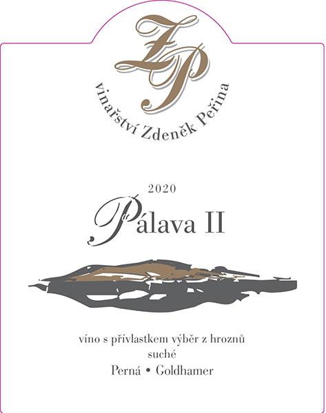 Pálava II 2020, víno s přívl. výběr z hroznů