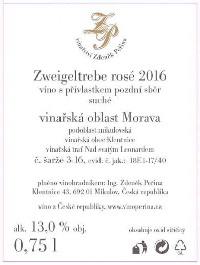 Zweigeltrebe rosé 2016