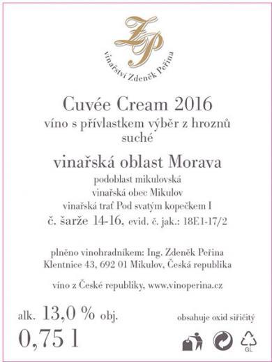 Cuvée Cream 2016