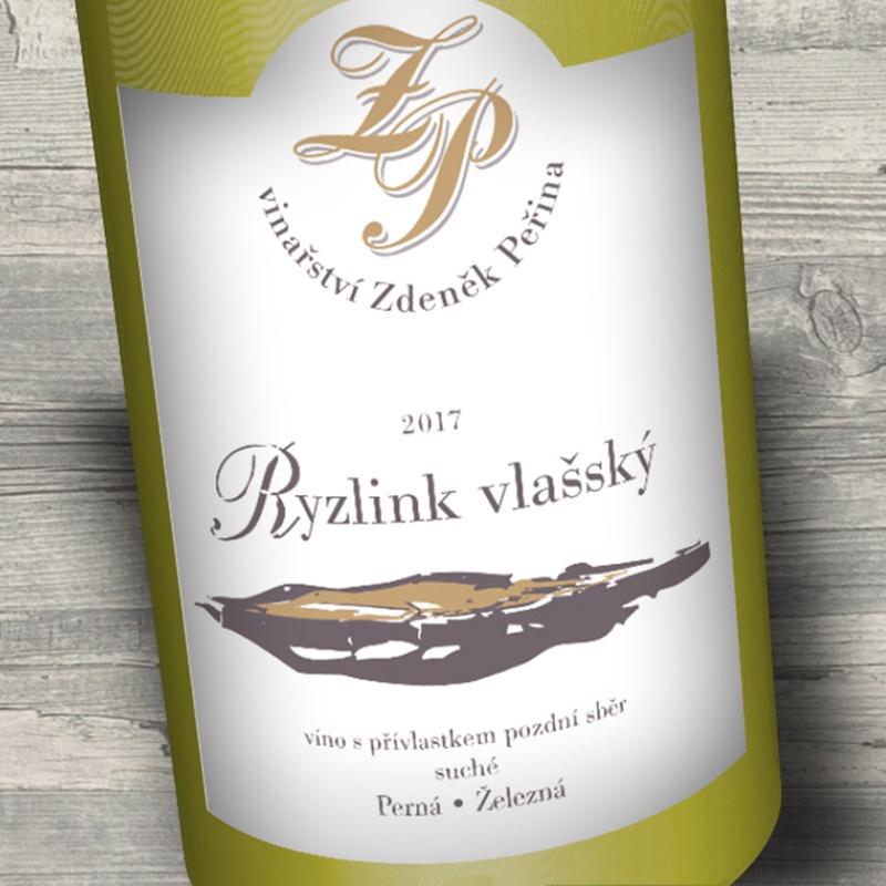 Ryzlink vlašský 2017, víno s přívl. pozdní sběr