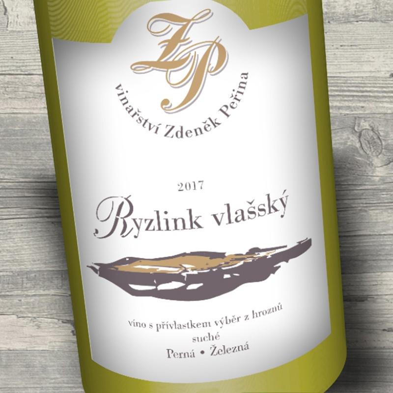 Ryzlink vlašský 2017, víno s přívl. výběr z hroznů
