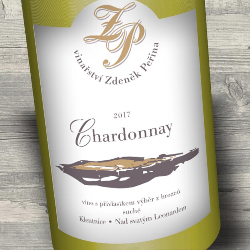 Chardonnay 2017, víno s přívl. výběr z hroznů