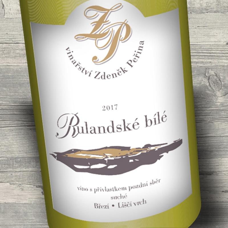 Rulandské bílé 2017, víno s přívl. pozdní sběr