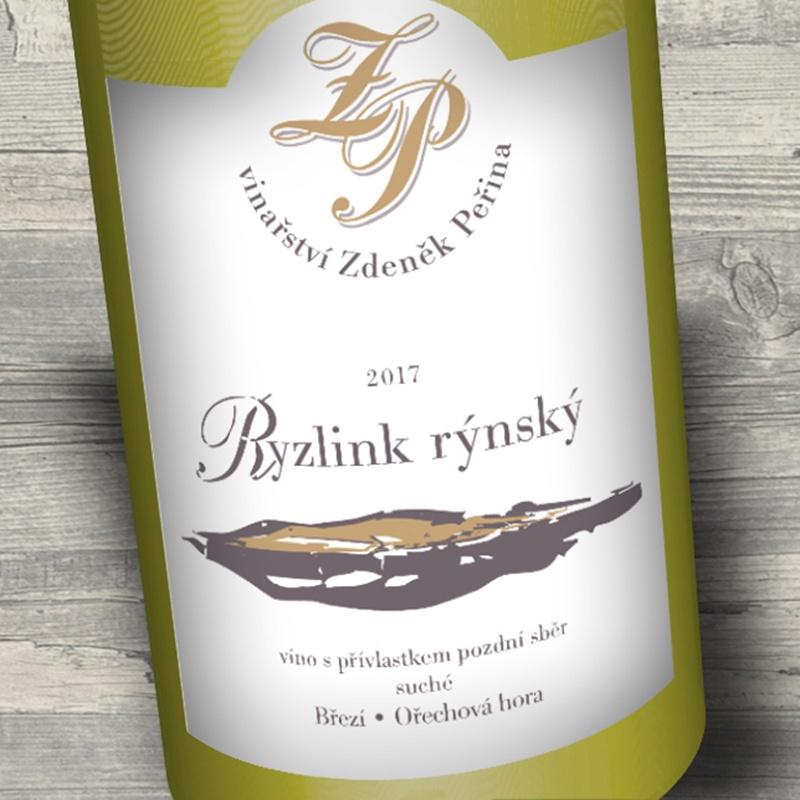 Ryzlink rýnský 2017, víno s přívl. pozdní sběr