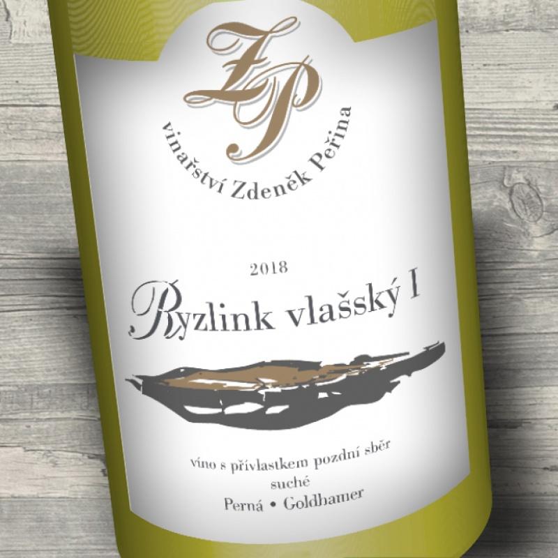 Ryzlink vlašský 2018, víno s přívl. pozdní sběr