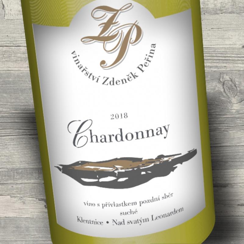 Chardonnay 2018, víno s přívl. pozdní sběr