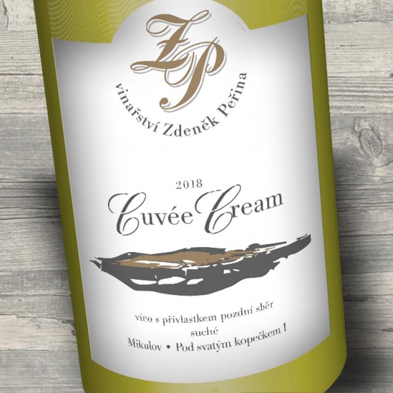 Cuvée Cream 2018, víno s přívl. pozdní sběr