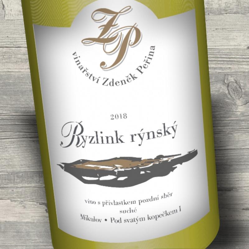 Ryzlink rýnský 2018, víno s přívl. pozdní sběr
