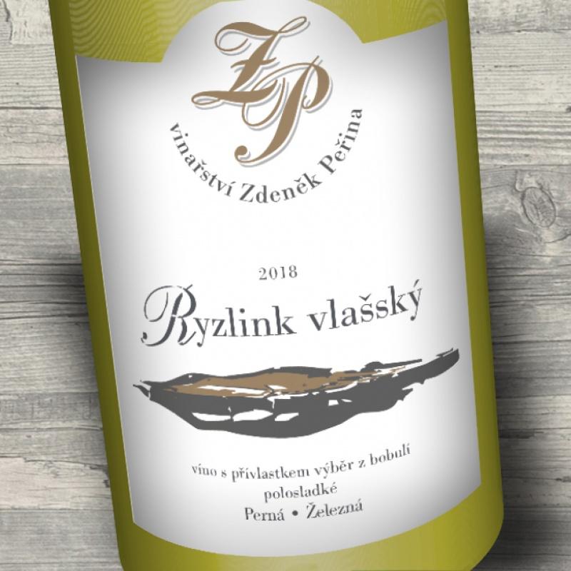Ryzlink vlašský 2018, víno s přívl. výběr z bobulí