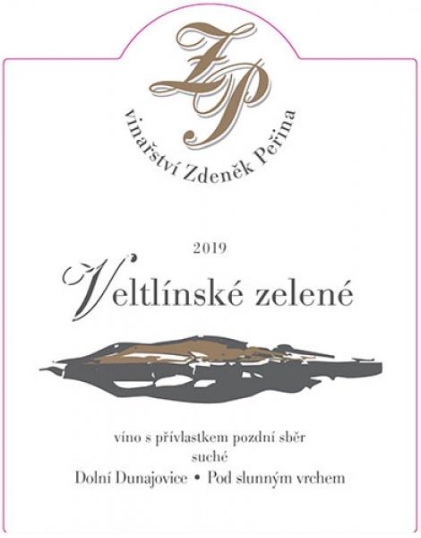 Veltlínské zelené 2019, víno s přívl. pozdní sběr