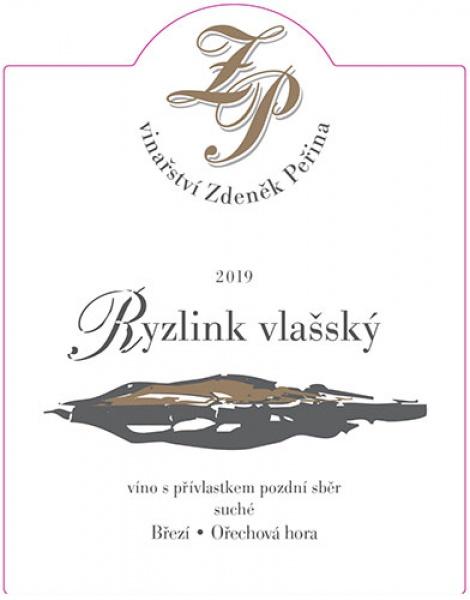 Ryzlink vlašský 2019, víno s přívl. pozdní sběr